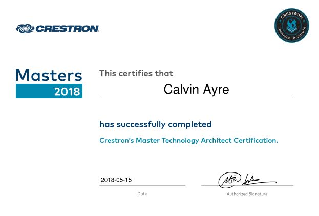Smartcomm - AV, IT & Communications Solutions - Crestron Master
